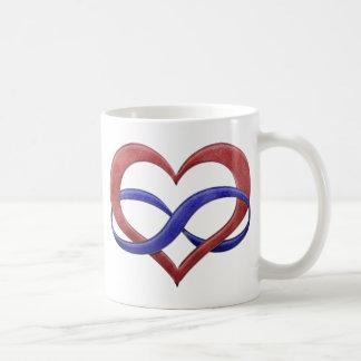 Polyamorous Pride Infinity Heart Basic White Mug