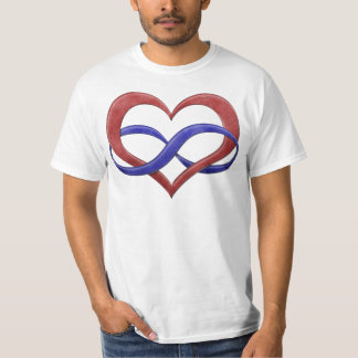 Polyamorous Pride Infinity Heart T-shirts
