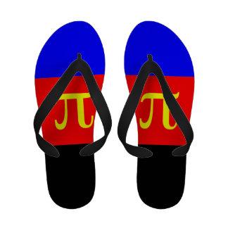 POLYAMOROUS STRIPES DESIGN - 2014 PRIDE png Sandals
