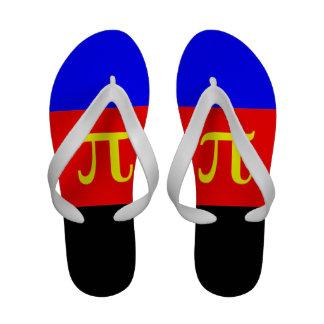 POLYAMOROUS STRIPES DESIGN - png Flip Flops