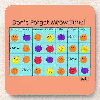 Polyamory Cat: Meow Time Coasters