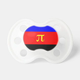 Polyamory Flag -- Pi 3-color Baby Pacifier
