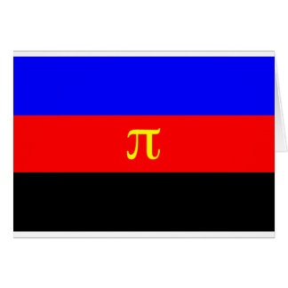 Polyamory Flag -- Pi 3-color Greeting Card