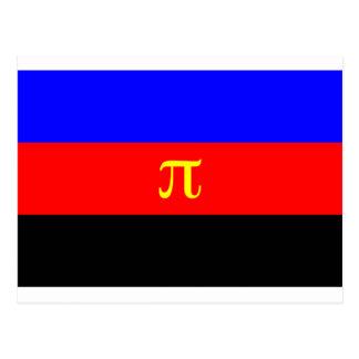 Polyamory Flag -- Pi 3-color Postcard