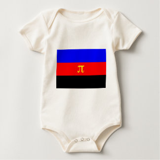 Polyamory Flag -- Pi 3-color Rompers