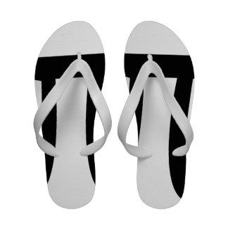 POLYAMORY PI SYMBOL BLACK - png Sandals