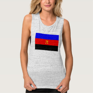 Polyamory Pride Flag Flowy Muscle Tank Top