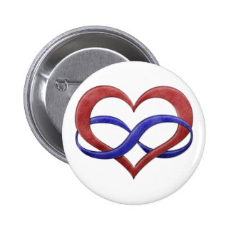 Polyamory Pride Infinity Heart 6 Cm Round Badge