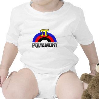 POLYAMORY RAINBOW FLAG BABY BODYSUITS