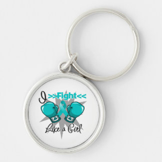 Polycystic Kidney Disease I Fight Like a Girl Key Chains