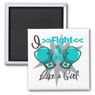 Polycystic Kidney Disease I Fight Like a Girl Square Magnet