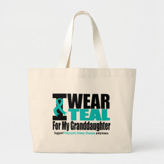 Polycystic Kidney Disease I Wear Teal For My Grand Jumbo Tote Bag