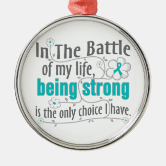 Polycystic Kidney Disease In The Battle Round Metal Christmas Ornament