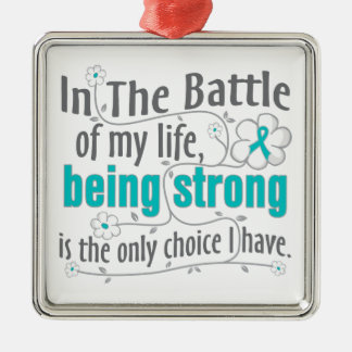 Polycystic Kidney Disease In The Battle Square Metal Christmas Ornament