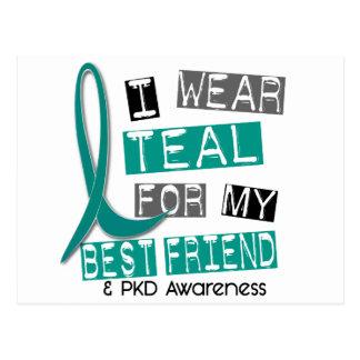 Polycystic Kidney Disease PKD Teal For Best Friend Postcard