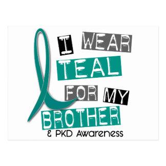 Polycystic Kidney Disease PKD Teal For Brother 37 Postcard