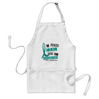 Polycystic Kidney Disease PKD Teal For Grandmother Standard Apron