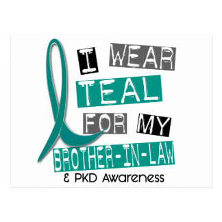 Polycystic Kidney Disease Teal For Brother-In-Law Postcard
