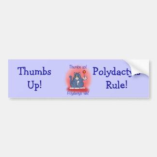 Polydactyls Rule! Car Bumper Sticker