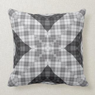 Polyester Cotton Grey Plaid #1 Vita Pillow
