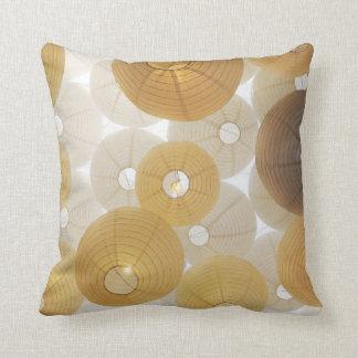 Polyester golden new white cushion
