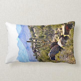 Polyester Lumbar Pillow - Saguaro in the Mountains