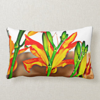 Polyester Lumbar Pillow - Tiger Lily