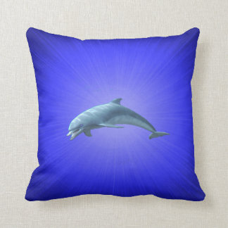 "Polyester Throw Cushion 16"" x 16"" dolphin"