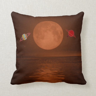 """Polyester Throw Cushion 16"""" x 16"""" planets"""