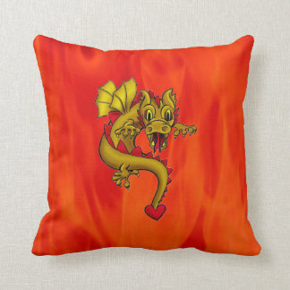 "Polyester Throw Cushion ""16x16"" dragon"