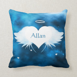 Polyester Throw Pillow 16 x 16 -Angel of the Heart Throw Cushions