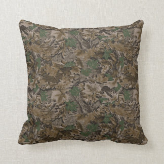 Polyester Throw Pillow 16x16 Camouflage