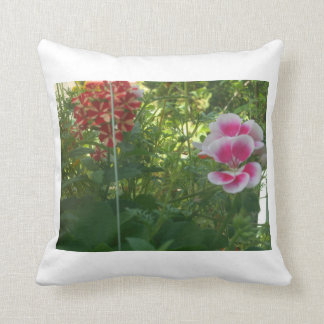POLYESTER THROW PILLOW - BEAUTIFUL FLOWERS