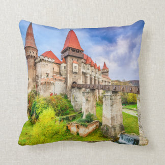 Polyester Throw Pillow, Corvin castle Cushion