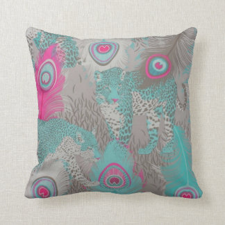 Polyester Throw Pillow/ Exotic Leopard Cushion