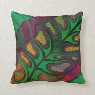 Polyester Throw Pillow, Outdoor-Leaf print Cushion