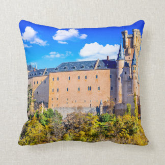 Polyester Throw Pillow, Segovia castle Cushion