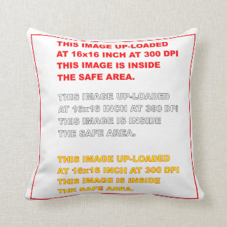 """Polyester Throw Template 16"""" x 16""""  35 Colors Plus Throw Pillow"""