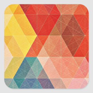 Polygon Abstract Square Sticker