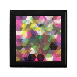 Polygon Colour Shape Crazy Pattern Small Square Gift Box