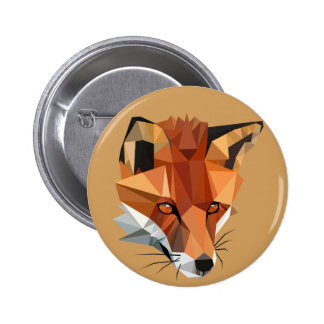 Polygon Fox Custom 6 Cm Round Badge