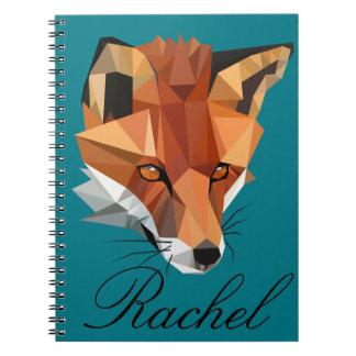 Polygon Fox Custom Notebook