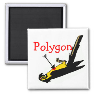 Polygon Funny Math Teacher Gift Square Magnet