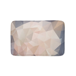 Polygon Geometric Abstract Bath Mat Gray Blush
