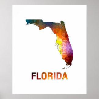 Polygon Mosaic State Map FLORIDA Print