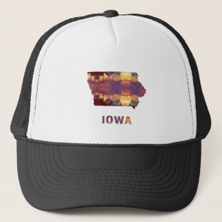 Polygon Mosaic State Map  IOWA Trucker Hat