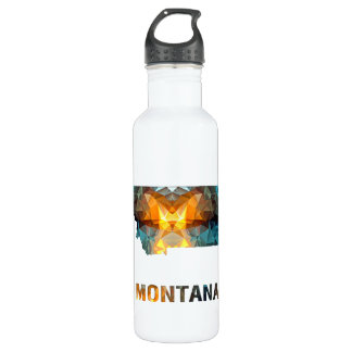 Polygon Mosaic State Map  MONTANA 710 Ml Water Bottle