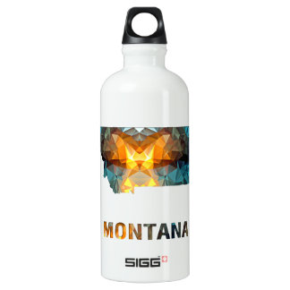 Polygon Mosaic State Map  MONTANA SIGG Traveller 0.6L Water Bottle