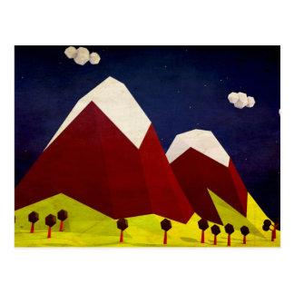 Polygon Mountain Vector Art Postcard