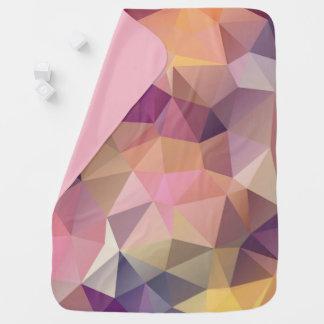 Polygon pink purple yellow background . baby blanket
